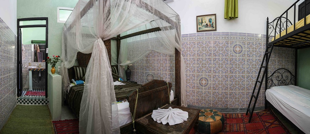 Riad Losra chambre kobba vert